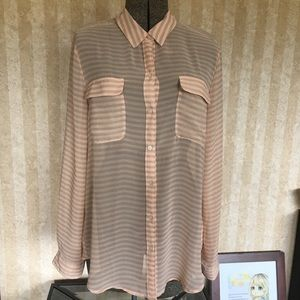 Old Navy Sheer Striped Blouse.